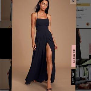 LULUS chiffon black maxi dress ONLY WORN ONCE